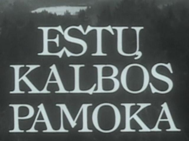 Estų kalbos pamoka